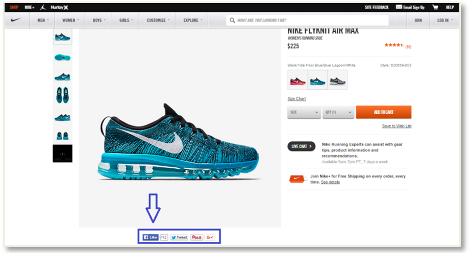 nike social proof ecommerce conversion rates