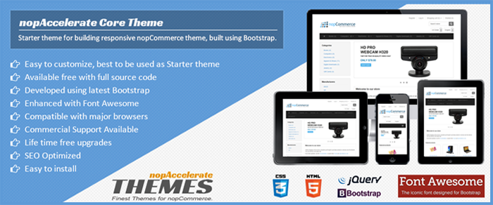 Announcing Free Nopcommerce Starter Theme Built On Bootstrap