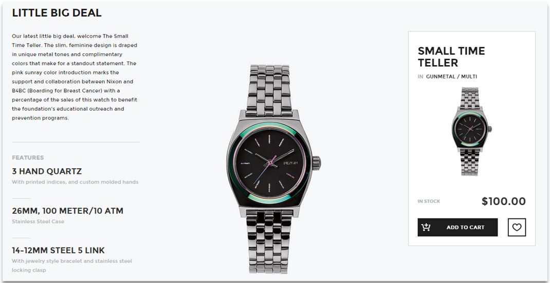 Nixon easy product description