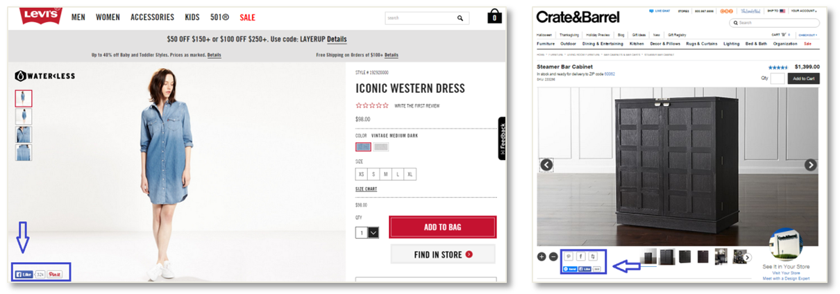 levis social proof ecommerce conversion rates