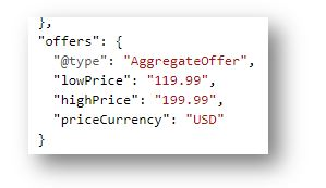 Schema Markup for ecommerce website - AggregateOffer