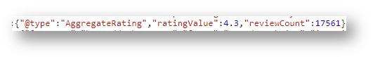 Schema Markup for ecommerce website - type AggregateRating 1