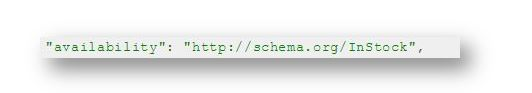 Schema Markup for ecommerce website - type instock 1