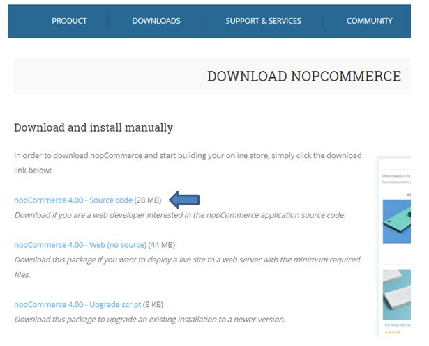 how to download and install nopcommerce