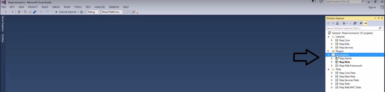 how to install nopcommerce - Visual studio