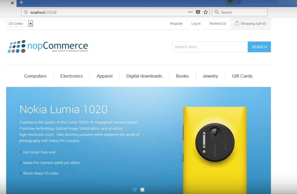 how to install nopcommerce - nopcommerce installed