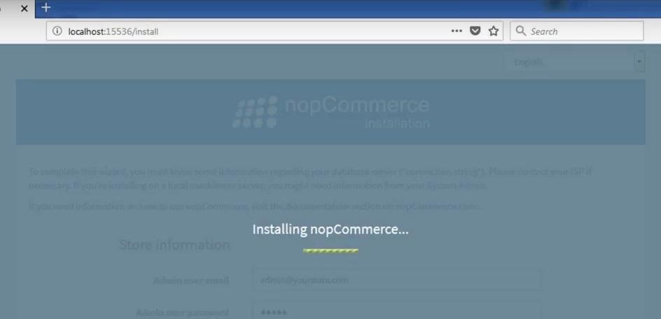 installing nopcommerce