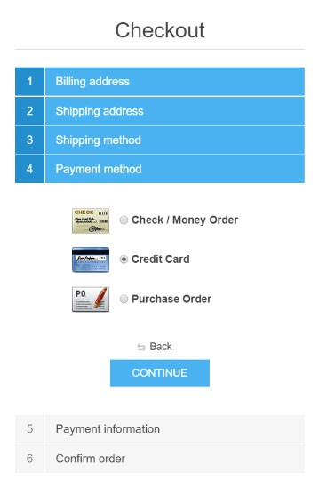 eCommerce Development Solution - nopCommerce Smooth checkout process